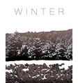 A winter landscape in sepia tones vector image vector image