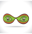 abstract eye vector image vector image