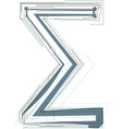 Abstract Sigma Sum sign vector image