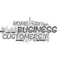 are you aware of your home business customers vector image vector image