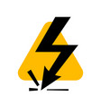 attention beware high voltage sign danger symbol vector image
