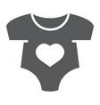 baby romper glyph icon newborn vector image vector image