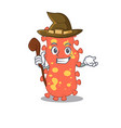 bacteroides sneaky and tricky witch cartoon vector image vector image