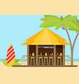 beach bar flat vector image vector image