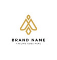 beauty fashion logo design vector image