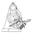belt cutting machine vintage vector image vector image