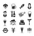 Black Beer Icon Set vector image