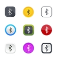 Bluetooth icons vector image