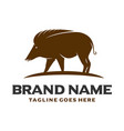 brown pig logo vector image vector image