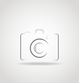 Camera Icon vector image vector image