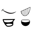 cartoon mouth symbol icon design vector image