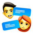 chat bot man and woman emoji concept modern style vector image vector image