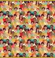 children crowd group color seamless pattern vector image vector image