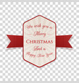 christmas decorative banner graphic element vector image