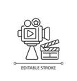 cinema industry linear icon vector image vector image