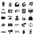 commercials icons set simple style vector image vector image