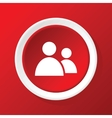 Contacts icon on red vector image