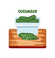cucumber flat design vector image vector image