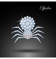 Diamond spider Halloween symbolDecoration vector image