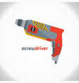 electric screwdriver color icon electric drill vector image vector image