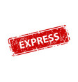 express stamp texture rubber cliche imprint web vector image vector image