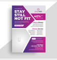 fitness gym flyer and poster template vector image
