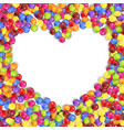 frame of love colored candies vector image vector image