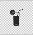 glass of juice icon on transparent background vector image vector image