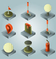 golf color gradient isometric set vector image vector image
