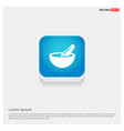 icon of bowl and chopsticks vector image vector image