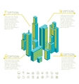 infographic made of colorful buildings vector image vector image