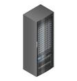 isometric network server vector image
