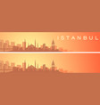 istanbul beautiful skyline scenery banner vector image vector image