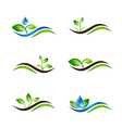 Landscape Agricultural Icon or Logo vector image