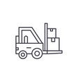 loader in stock line icon concept loader in stock vector image vector image