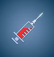 Logo medical syringe vector image vector image