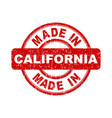 made in california red stamp on white background vector image