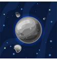 mercury cartoon grey planet vector image vector image