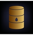 Oil barrel sign vector image vector image