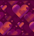 Pink love heart concept for backdrop simple vector image