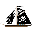 pirate vessel on white vector image