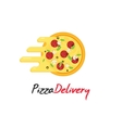 Pizza delivery logo isolated on white vector image vector image