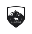 polar bear mountain icon vector image vector image