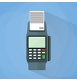 POS terminal flat style vector image