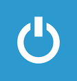 power on icon white on the blue background vector image vector image