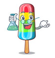 professor character beverage colorful ice cream vector image vector image