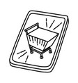 retail icon doodle hand drawn or outline icon vector image