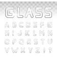 retro cinema font vector image