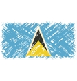 Saint Lucia grunge flag vector image vector image