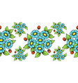 seamless color flowers brush vector image vector image